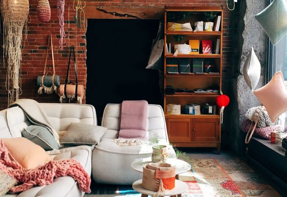 Antique dealer's eclectic apartment